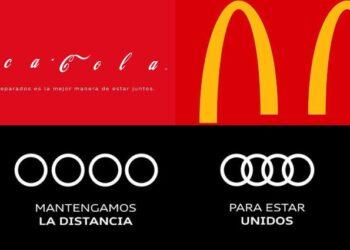 Coca-Cola, Audi o McDonald's modifican sus logos para frenar al COVID-19